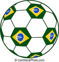 Brazil ball - Creative design of brazil ball