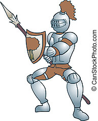 Medieval soldier - Creative design of medieval soldier