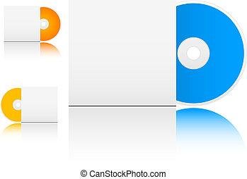 CD in box - Isolated cd in box