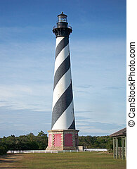 Hatteras Lighthouse - the Hatteras Lighthouse on the Outer...