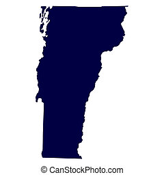 map of the US state of Vermont