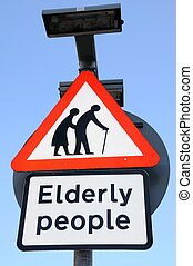 Elderly people crossing sign.