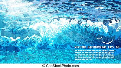 VECTOR WAVE BACKGROUND. EPS 10
