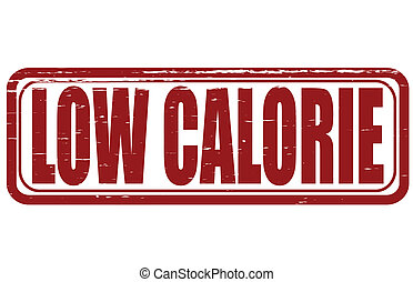 Low calorie - Stamp with text low calorie inside, vector...