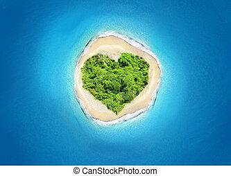 island heart shape