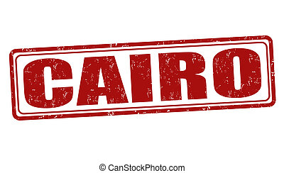 Cairo stamp - Cairo grunge rubber stamp on white, vector...
