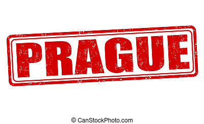 Prague stamp - Prague grunge rubber stamp on white, vector...