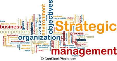 Strategic management wordcloud - Word cloud tags concept...
