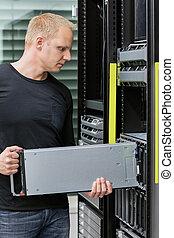 It consultant install blade server in datacenter - It...