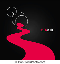 spilled wine glass design background 8 eps