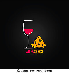 wine and cheese design background 8 eps