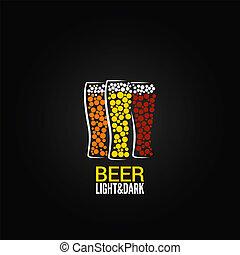 beer glass label design background