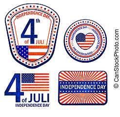 Stamps of Independence Day. EPS 10