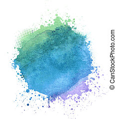 Watercolor blot - Multicolored watercolor splash blot