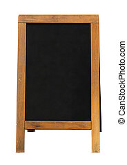 wooden blackboard sandwich Board - Blackboard mounted in an...