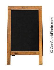 wooden blackboard sandwich Board - Blackboard mounted in an...