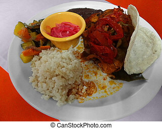 mexican dish - typical mexican dish with various ingredients