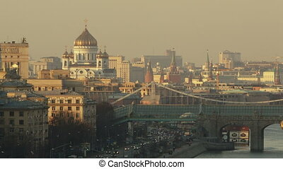 Panorama of Moscow - Beautiful cityscape of Moscow with...