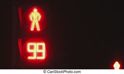 Pedestrian stoplight - Electric pedestrian stoplight at...