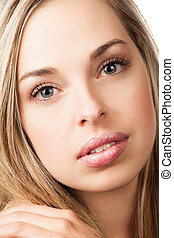 Natural beauty makeup girl - Portrait of a beautiful young...