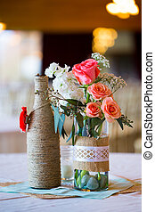 Wedding Reception Table Centerpieces - DIY wedding decor...