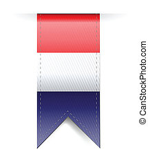 Netherlands flag banner illustration design over a white...