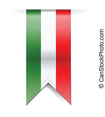 italian flag banner illustration design