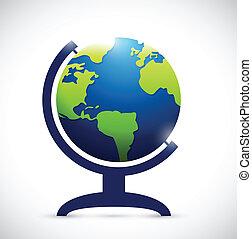 rotating atlas illustration design