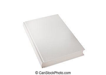 casebound in cloth book side view white on a white background