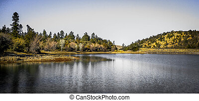 Flagstaff Arizona Lake - A wilderness lake on top of the...