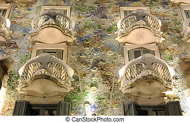 Casa Batllo at night, Barcelona Spain