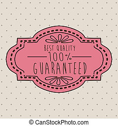 Label design over beige background, vector illustration