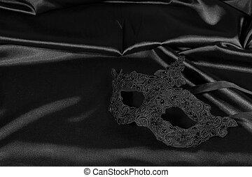 Carnival mask black background