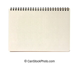 notebook - blank notebook isolated on white background