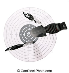 Target - Knives target fly direct goal black red white...