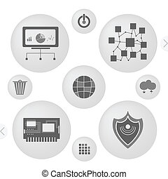 minimalist interface icons - Minimalist Interface Icons Set...