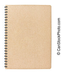 blank notebook isolated on white background, conservation...