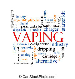 Vaping Word Cloud Concept with great terms such as...