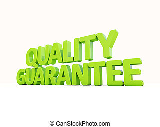 3d Quality guarantee - Quality guarantee icon on a white...