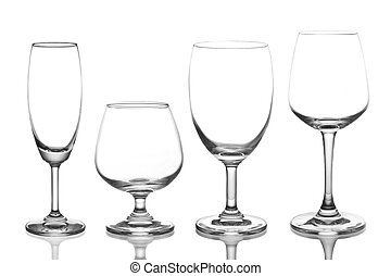 wine glass - empty wine glass isolated on white background
