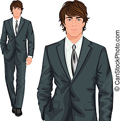 Young businessman standing - Young attractive professional...