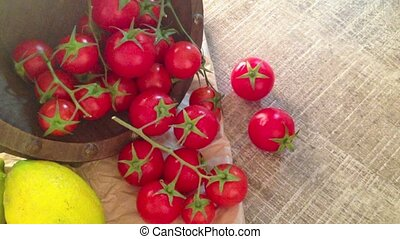 Bunch of wet tomatoes