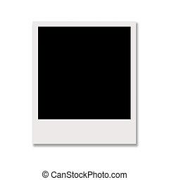 polaroid photo isolated on white background