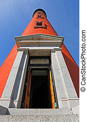 Ponce de Leon Lighthouse - The brilliant red lighthouse at...