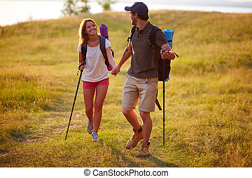 Spending leisure together - Portrait of couple of happy...