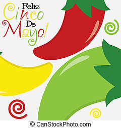 Cinco de Mayo Happy 5th of May card in vector format