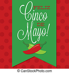 Retro style Cinco de Mayo Happy 5th of May card in vector...