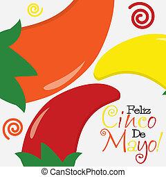 Cinco de Mayo (Happy 5th of May) card in vector format.