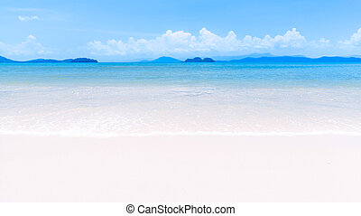 White sand beach on tropical island