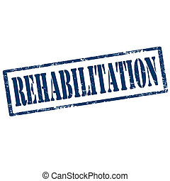 Rehabilitation-stamp - Grunge rubber stamp with text...